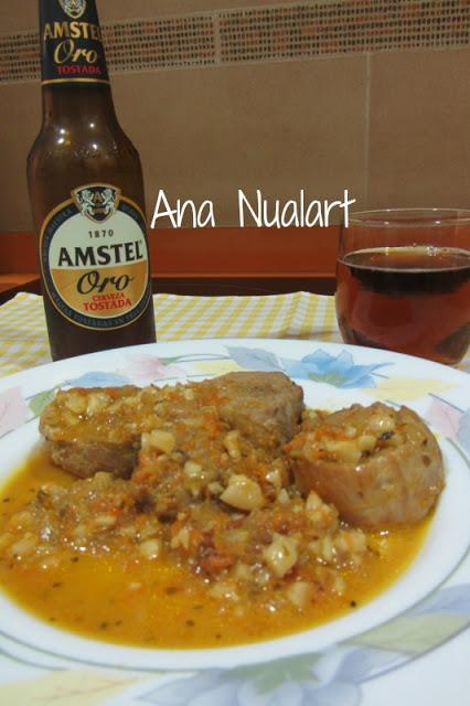 Receta Solomillo de cerdo con salsa de almendras y naranja