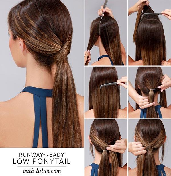 Espectacular peinados coleta baja Fotos de las tendencias de color de pelo - 15 peinados fáciles de hacer para mujeres con prisa ...