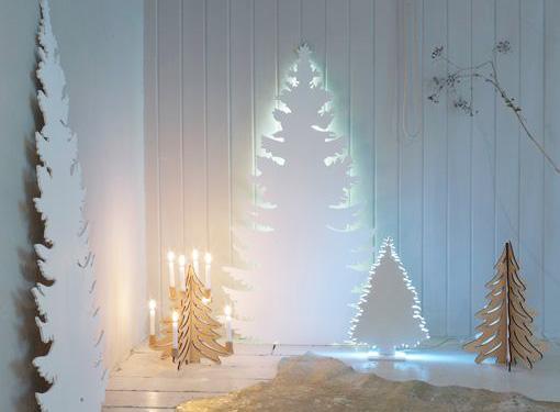 20 ideas para hacer tu propio Árbol de Navidad DIY ocupando menos espacio