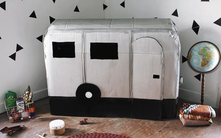 como hacer una caravana de carton