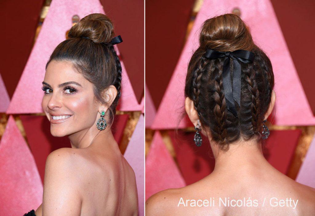 mujer luciendo peinado