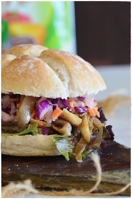 Receta de cocina Pulled Pork Sandwich Vegano