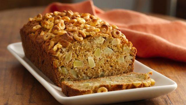 Receta de cocina de Pan de manzana con Cheerios