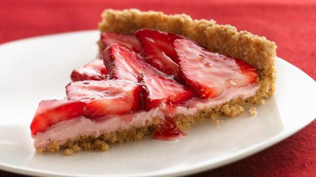 Receta de cocina de tarta de fresas y cheerios