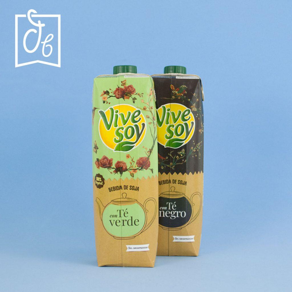 Vivesoy Soja Te Negro y Te Verde DisfrutaBox