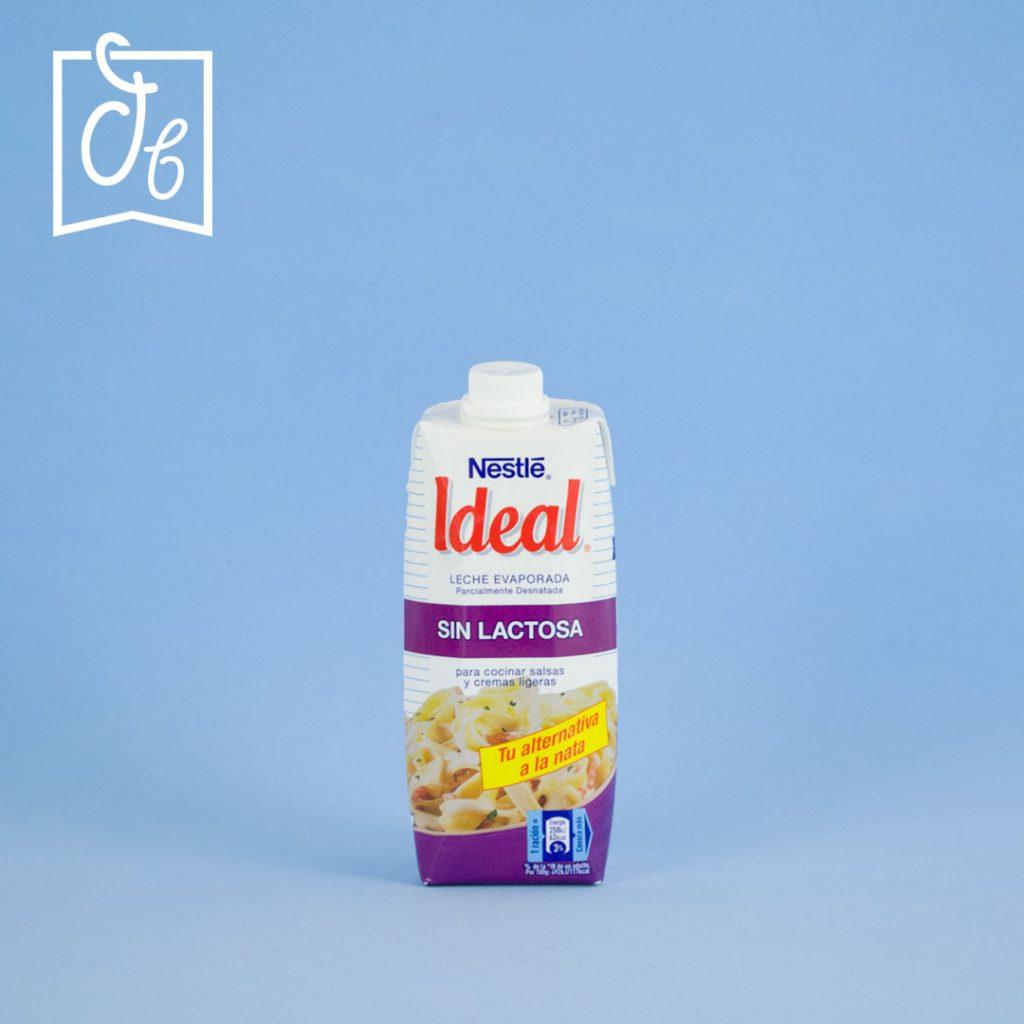 Leche evaporada sin lactosa Nestle Ideal