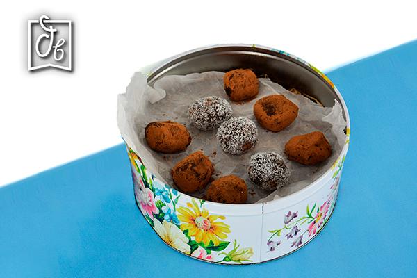 receta de bombones de chocolate y dulce de leche sin horno