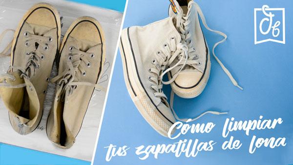 El truco casero para limpiar tus zapatillas de lona y vuelan a ser blancas