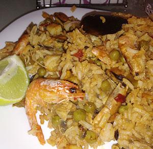 Receta de arroz al horno de marisco