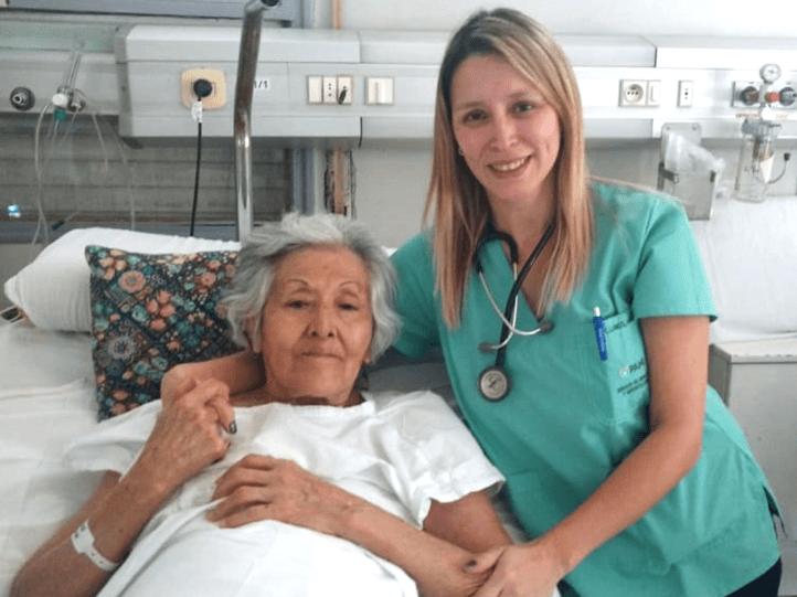 Nilda Villagra con su doctora