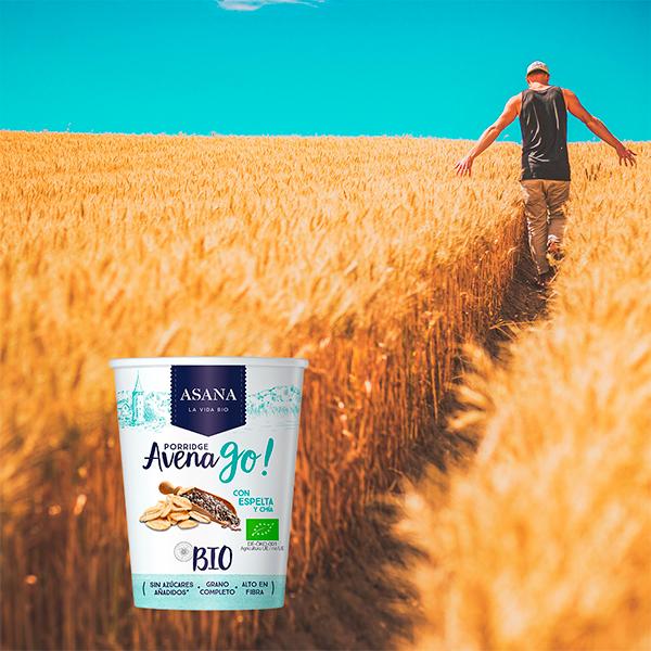 Porridge Avena Go! de Asana Bio