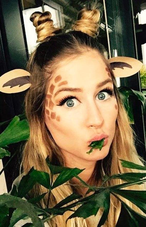 Maquillaje Halloween make Up Jirafa