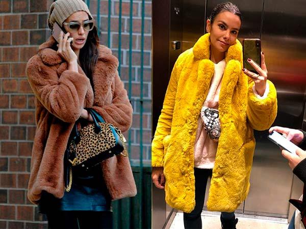 Irina Shayk y Cristina Pedroche luciendo una de las prendas de abrigo imprescindibles para este invierno