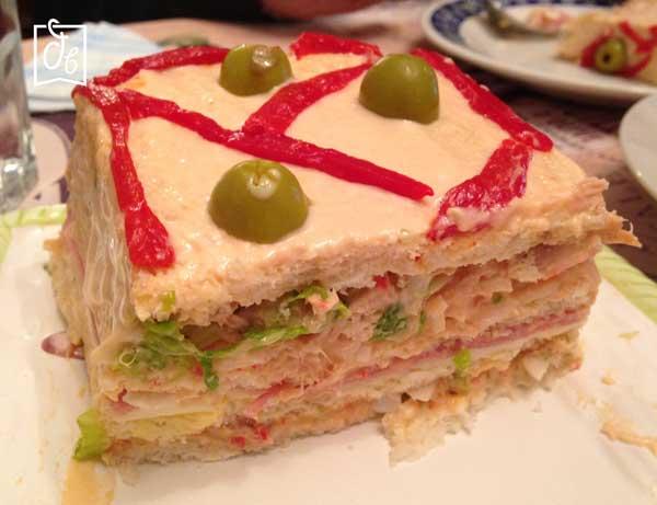 receta de sandwich gigante de atun