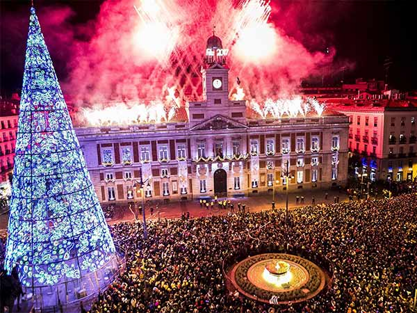 Nochevieja en la Puerta del Sol de Madrid