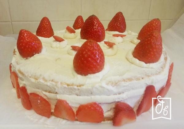receta facil de tarta de fresas