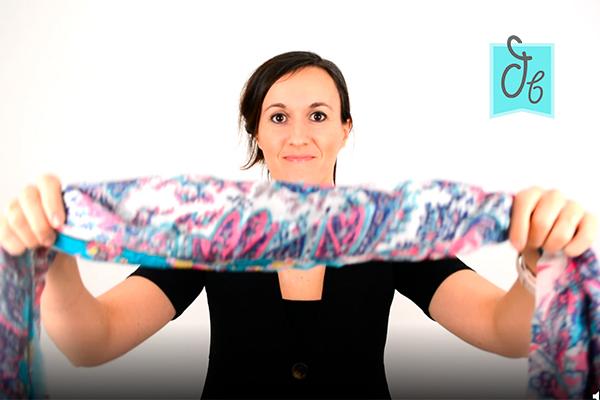 12 formas sencillas de ponerse un foulard pañuelo bufanda pasmina