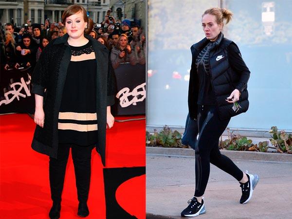 Transformación física de Adele, el increíble antes y después de la cantante.
