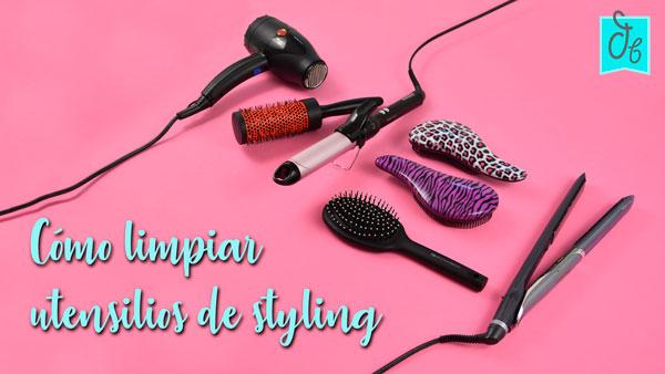 Tutorial: cómo limpiar tus cepillos y utensilios para el pelo
