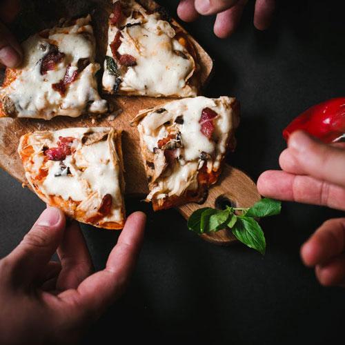 receta de pizza carbonara casera
