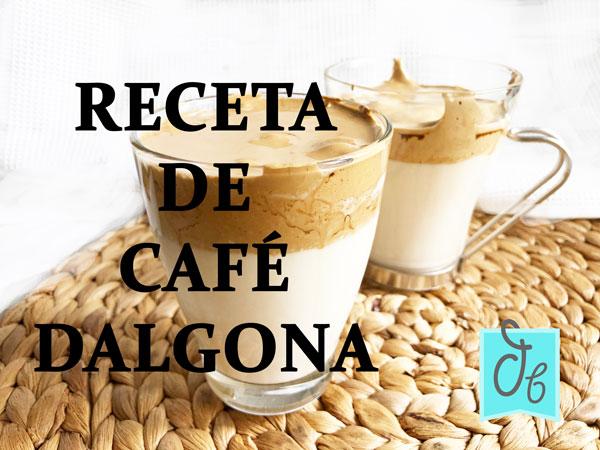 receta de café dalgona o fluffy coffee