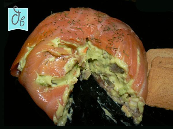 ensalada de salmon y aguacate