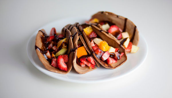 receta Tacos de Nocilla con frutas
