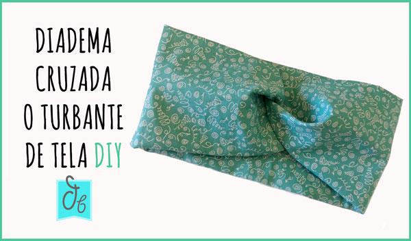tutorial cómo hacer diadema cruzada/turbante de tela para niñas