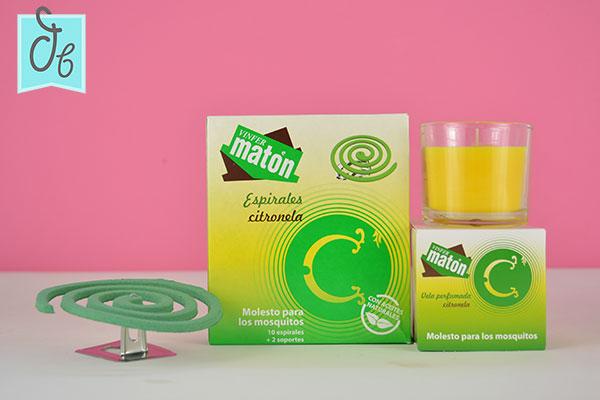 vinfer maton vela y espirales de citronela en DisfrutaBox