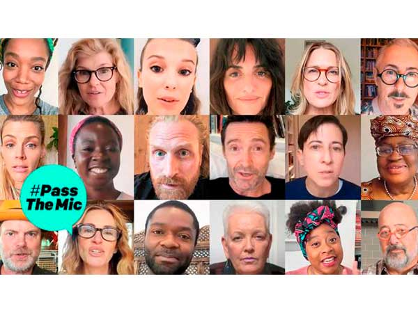 Famosos como Penélope Cruz o Julia Roberts se han sumado a la iniciativa #PassTheMic