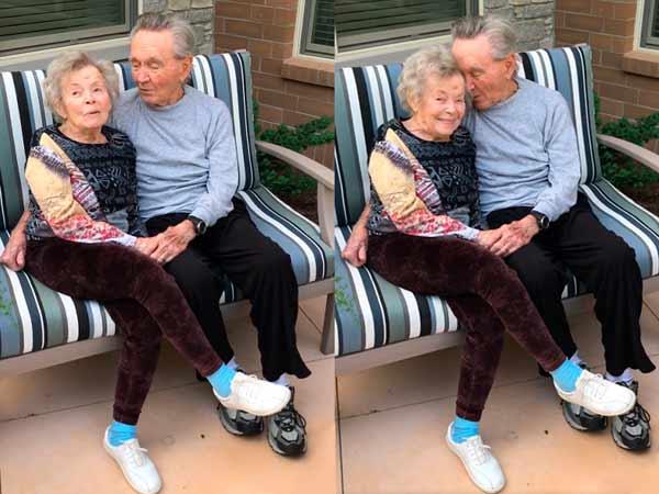 Emotivo reencuentro de la pareja de ancianos de 90 años tras superar el coronavirus