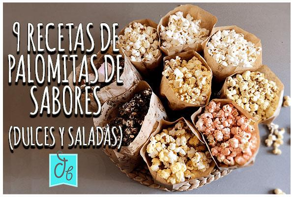 9 recetas de palomitas de maíz caseras de sabores dulces y saladas