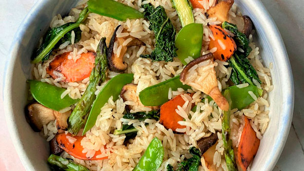 cómo usar Yondu receta arroz frito