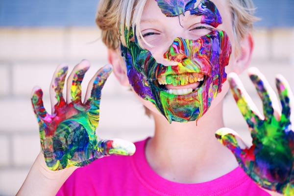 receta pintura casera de manos para niños y bebés
