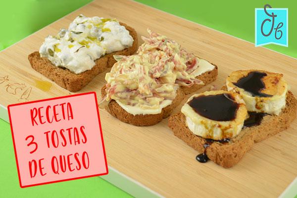 3 recetas de tostas con queso de cabra, ricotta y camembert