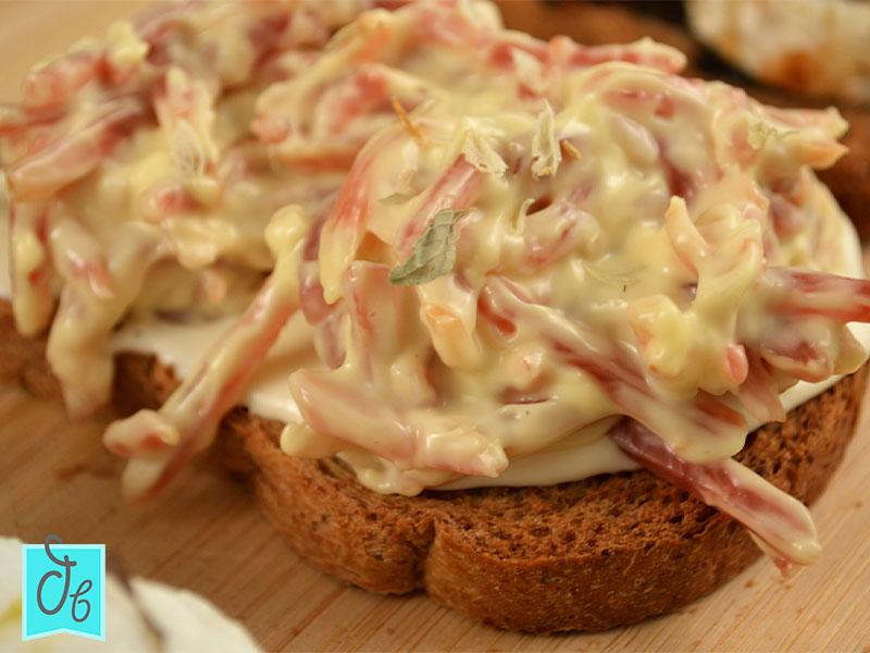 receta de tosta ibérica con mayonesa