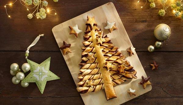 receta Arbol de Navidad Chocolate y Hojaldre