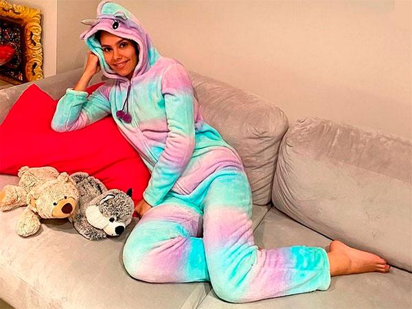 Cristina Pedroche y su pijama de unicornio