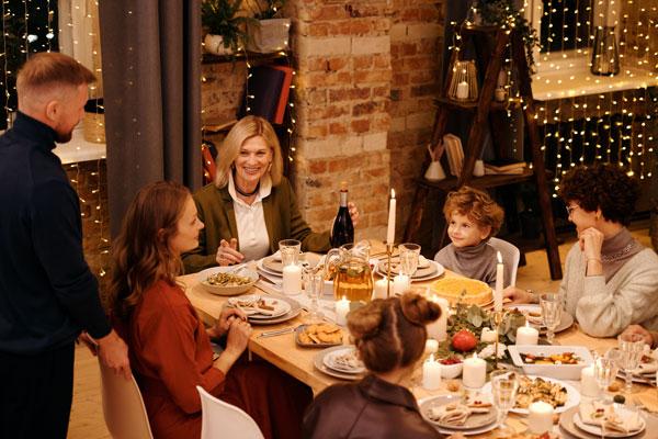 decorar tu mesa con macarons reunion familiar