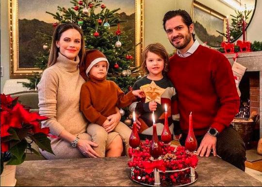 Sofia de suecia y familia Navidad