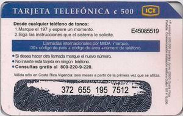 tarjeta de prepago para cabina telefónica
