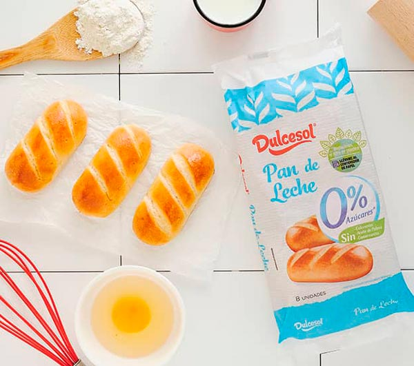 Pan de Leche 0% Azúcares Añadidos Dulcesol en DisfrutaBox Amanece que no es poco