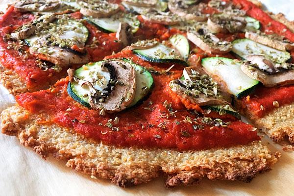 pizza de quinoa receta sana
