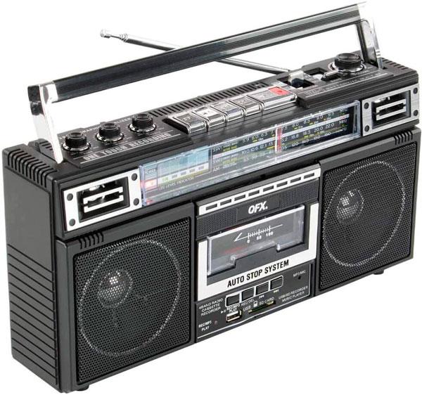 radio cassette old pero así de old