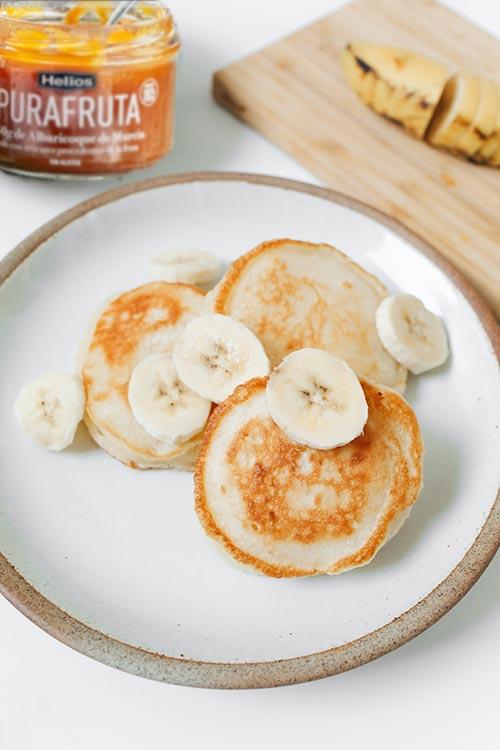 recetas de pancakes de avena saludables y Purafruta de Helios