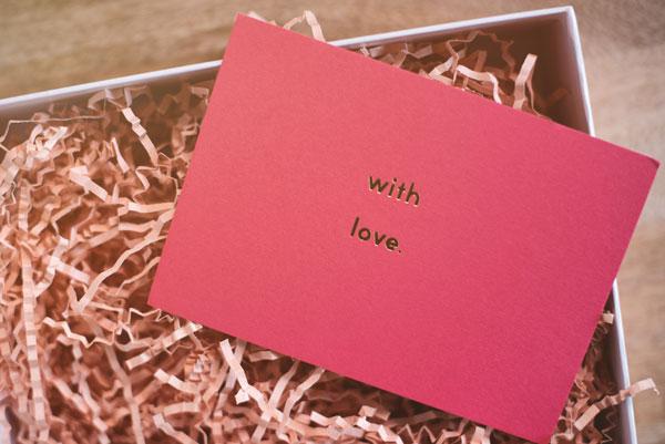tarjeta amorosa plan San Valentín