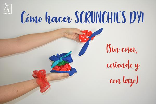Cómo hacer Scrunchies para niñas DIY sin coser consiendo y con lazos