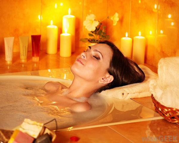baño relajante hogar más acogedor