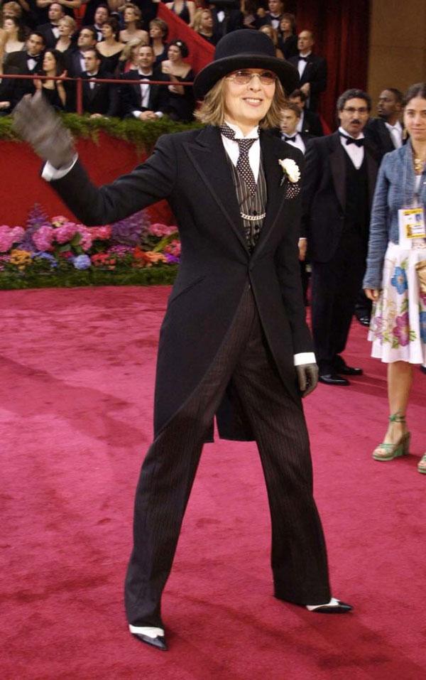 diane keaton Los looks más sorprendentes de los Oscar