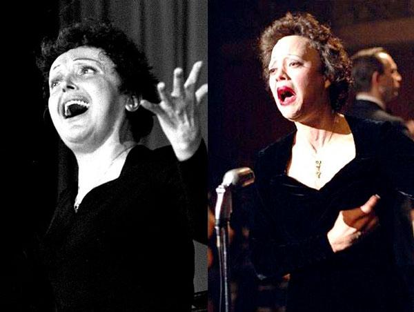 """Marion Cotillard como Edith Piaf en """"La vida en rosa"""""""